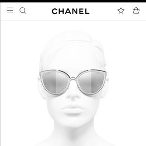 Chanel Reflective Cat Eye Sunglasses